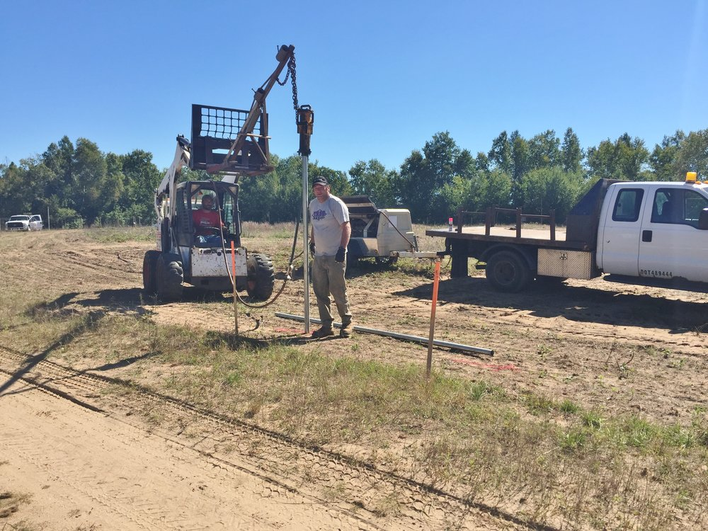Our fence guys are miracle workers. Jason Christianson and his assistant Jason Barnes have worked tirelessly, rain or shine, to get WSC ready to move! Here they are early on in the process, driving posts.