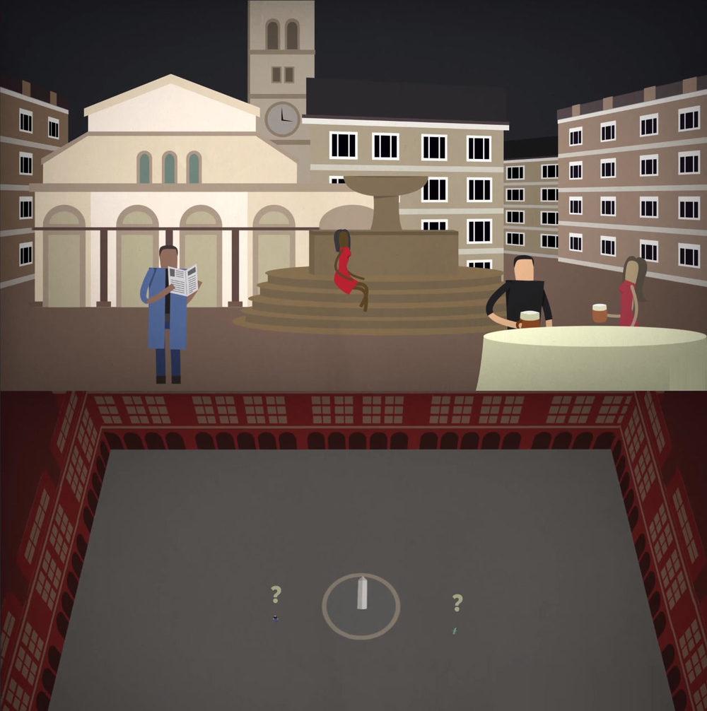 Рис. 5 Соотношение площади и человека.Вспомните все самые большие монументы и площади, которые вы видели? Много ли было на них людей, если это не какая-то спланированная акция?