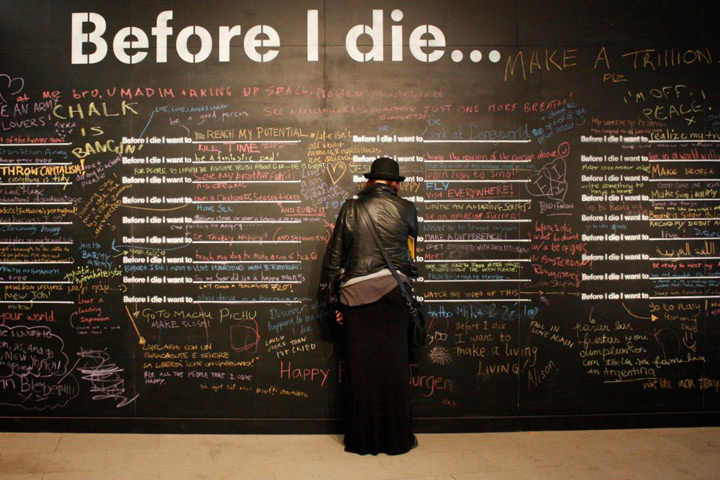 before i die 50 things to do before you die, because you don't want to look back on your life with regret.