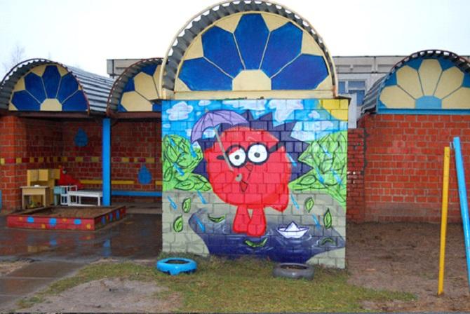 Особенно актуален такой способ преобразования пространства для детских учреждений Фото: http://iobninsk.ru