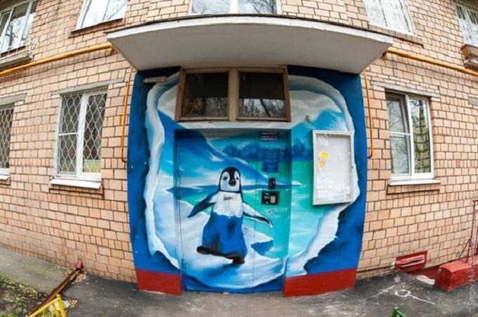 Подъезд в Кузьминках, неизвестный автор Фото: adme.ru