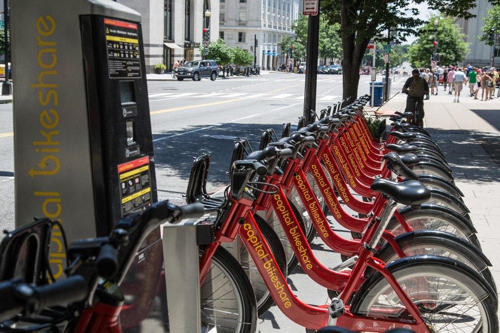 Так выглядит точка проката Capital Bike в Вашингтоне