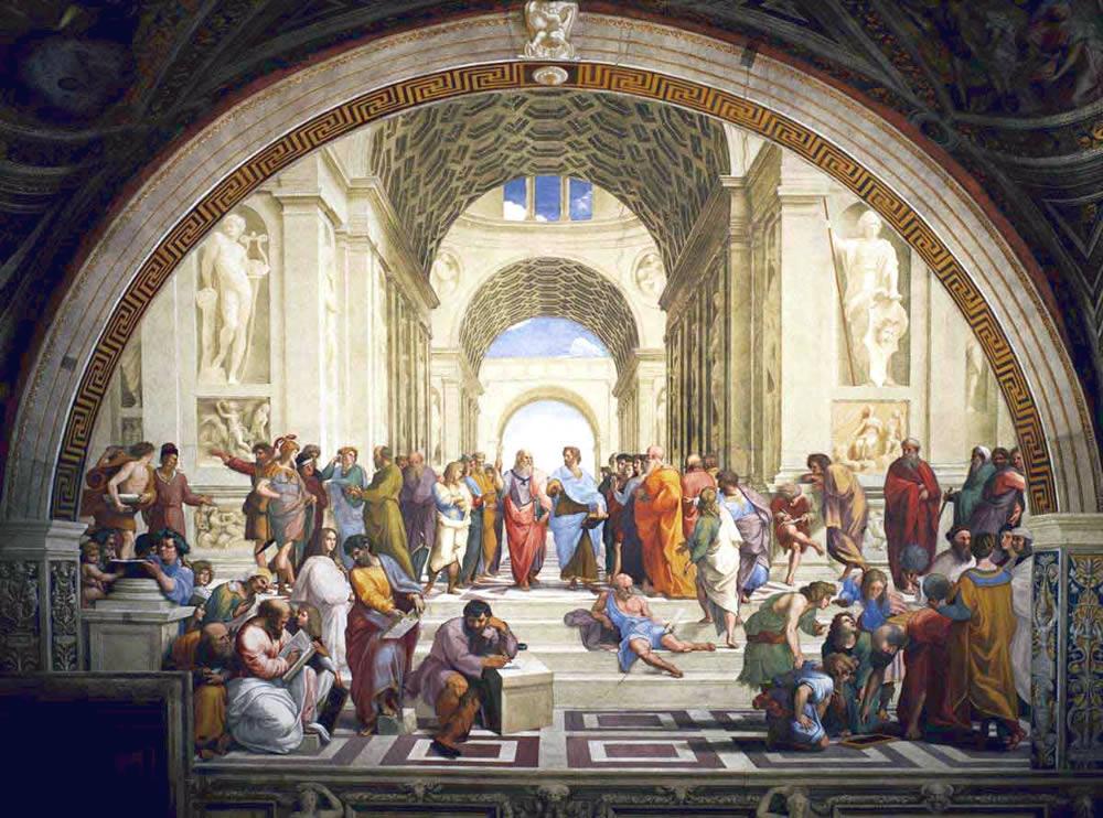 """Знаменитая картина Рафаэля """"Школа в Афинах"""" – олицетворение греческой культуры и наук"""