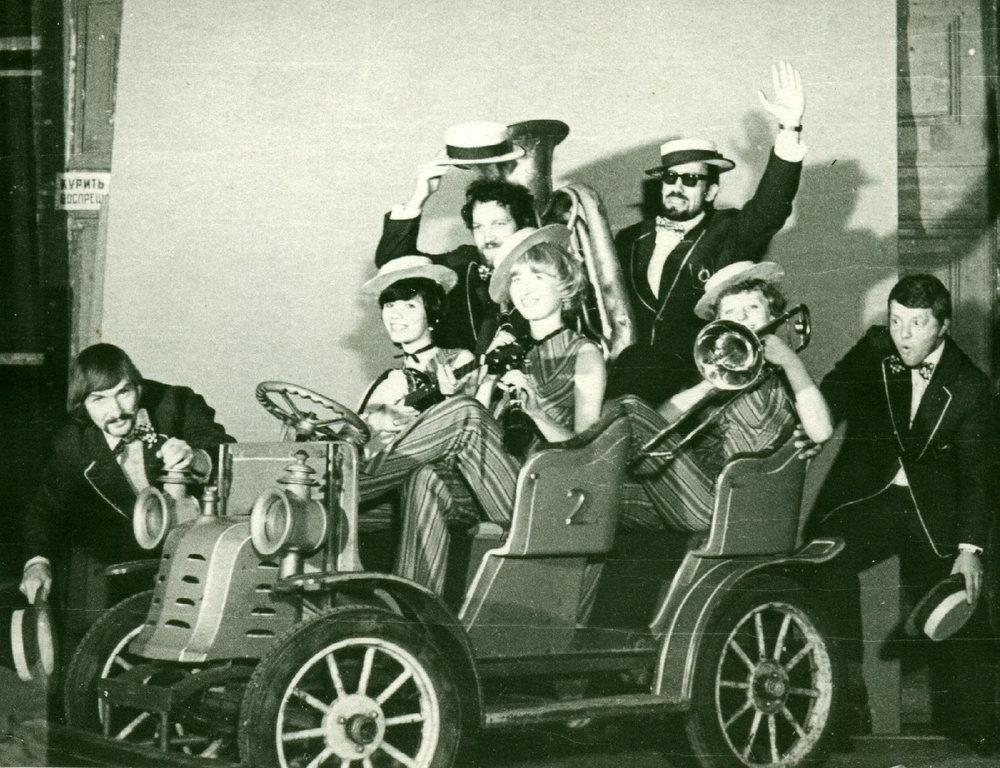 «Обнинский Диксиленд» на Центральном телевидении //личный архив Геннадия Баранова