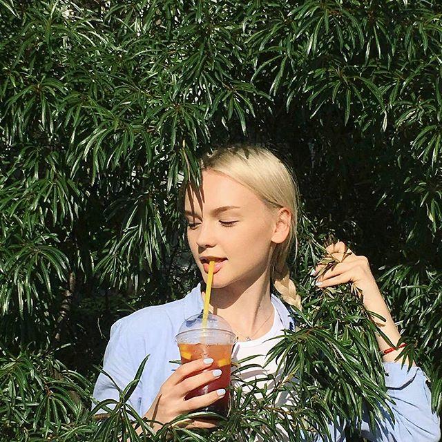 from @ktnkshn -  Холодный чай от ребят из @coffeeobninsk для того, чтобы напомнить  себе, что надо пить летом...