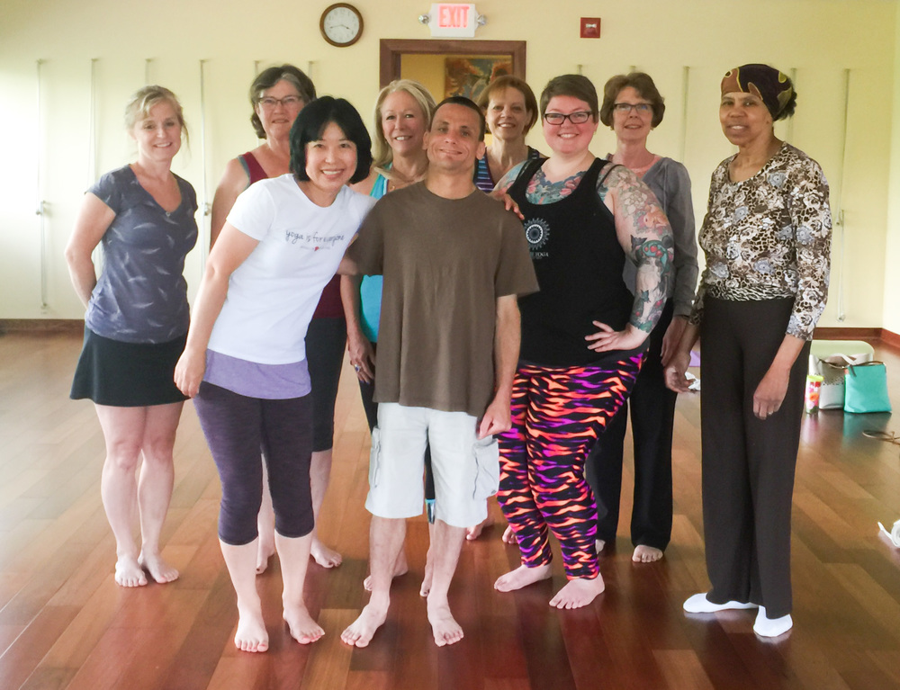 Accessible yoga workshop