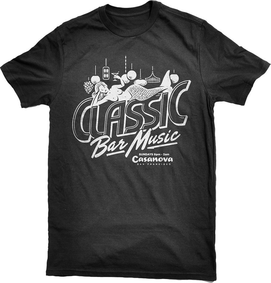 Classic Bar Music Rock and Roll T-Shirt Design