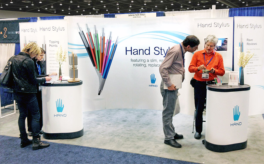 Hand Stylus Trade Show Graphics