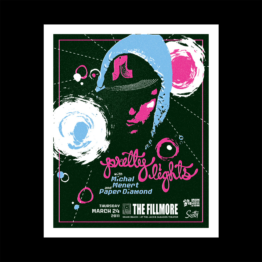 Pretty Lights Silkscreen Event Poster