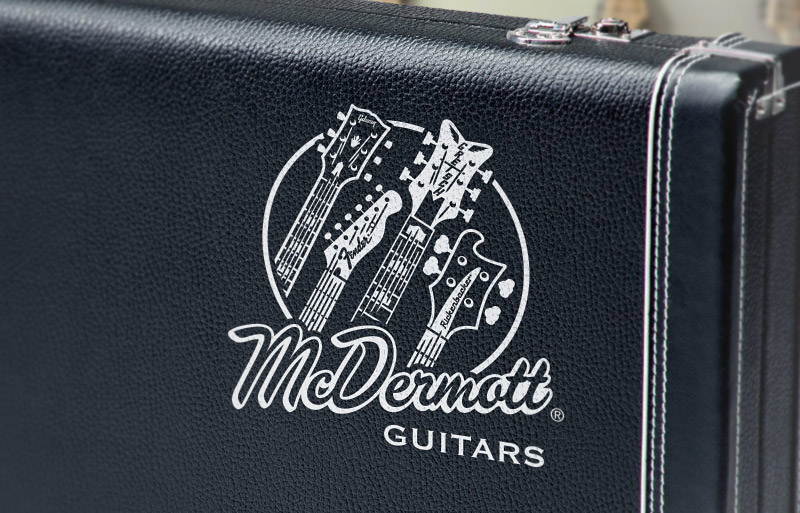 McDermott Guitars Logo on Guitar Case