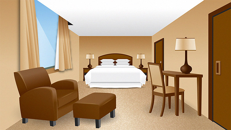 Starwood Resorts Room Illustration