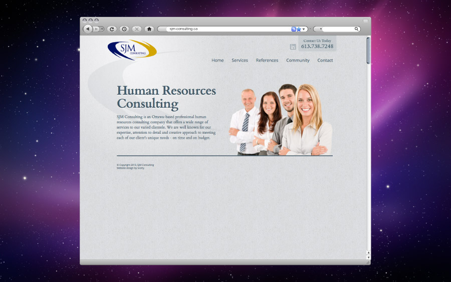 SJM Consulting Website Design