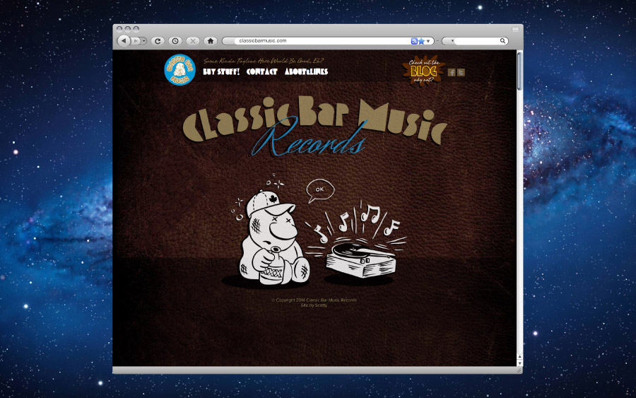 Classic Bar Music Website Homepage