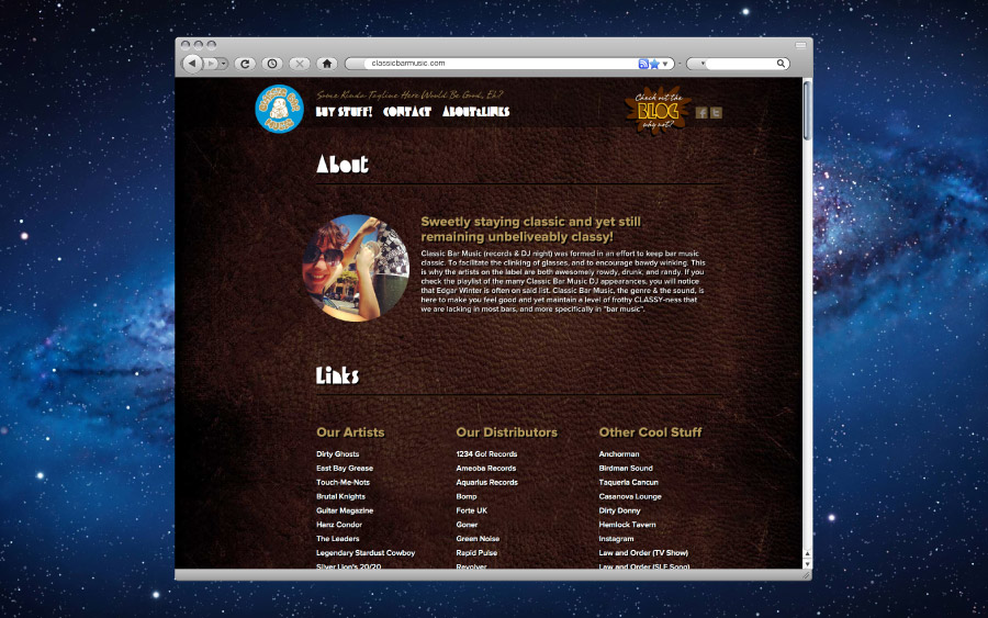 Classic Bar Music Website About