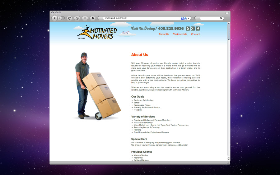 Motivated Movers Website About