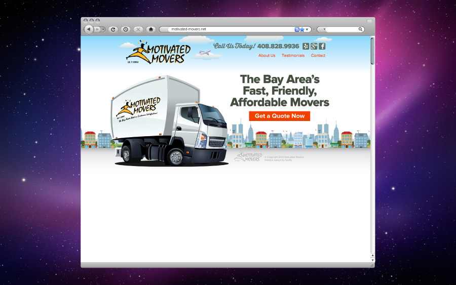 Motivated Movers Website Homepage Design