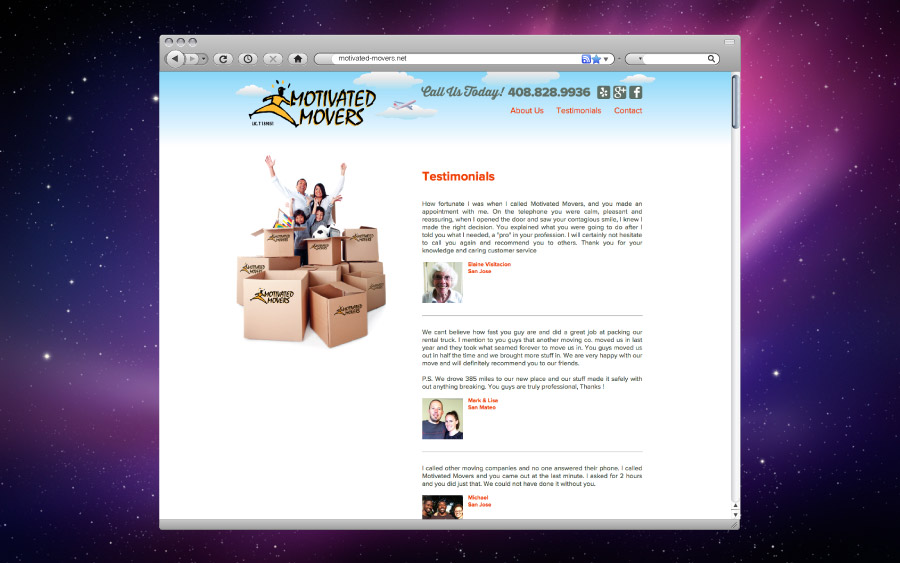 Motivated Movers Website Reviews