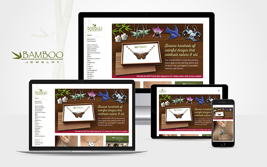 Bamboo Jewelry Responsive Website