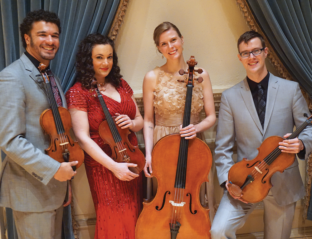 PUBLIQuartet at Carnegie Hall. Photo by ©Barbara Barefield
