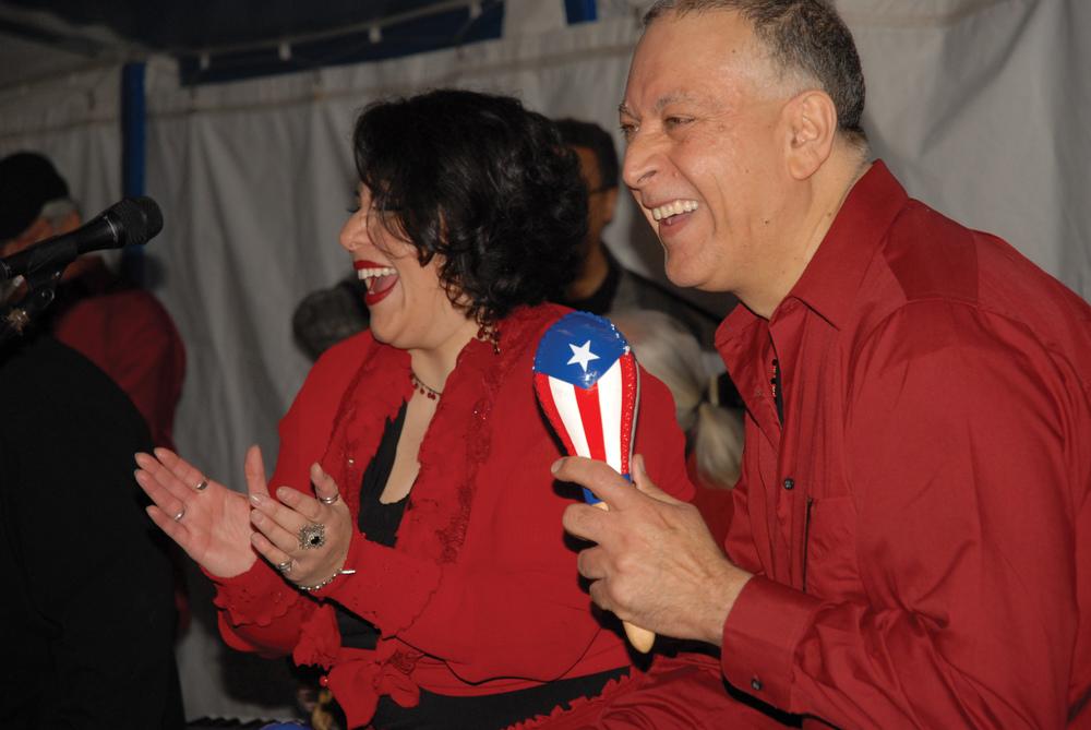 Dolce Checkler and Ozzie Rivera of Orquesta La Inspiracion. Photo by ©Barbara Barefield