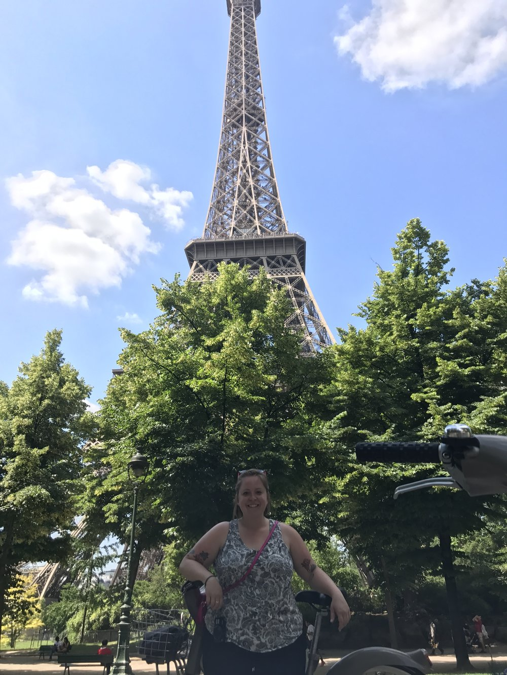 Yours truly under the Eiffel Tower