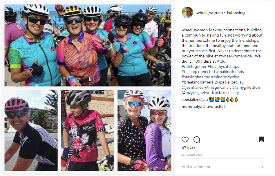 Wheel Women Australia have been riding together since 2012!
