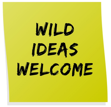 One of the guidelines for the workshop, WILD IDEAS are WELCOME!