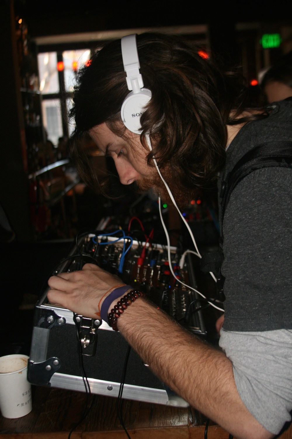 Attendee sampling modular synths from I/O
