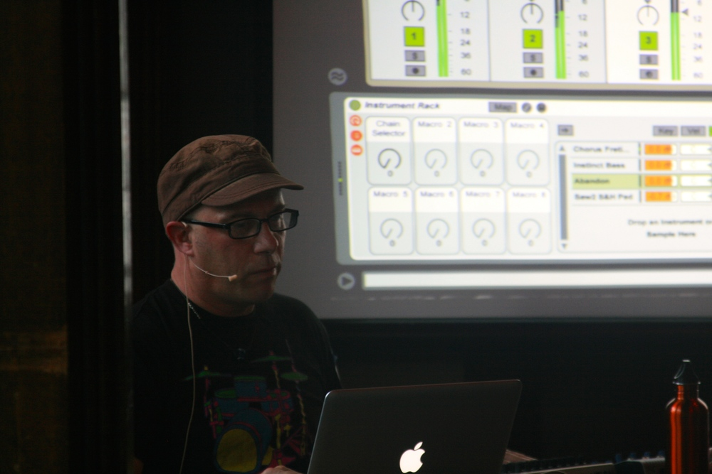 Jef Stott showing how to prep Ableton Live for live performance