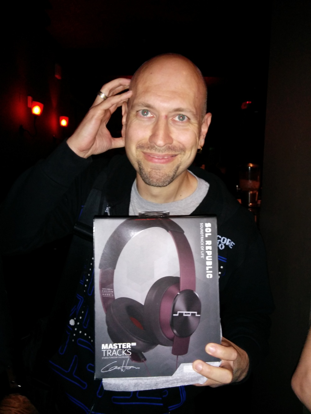 Chris, lucky winner of SOL REPUBLIC Master Tracks XC headphones