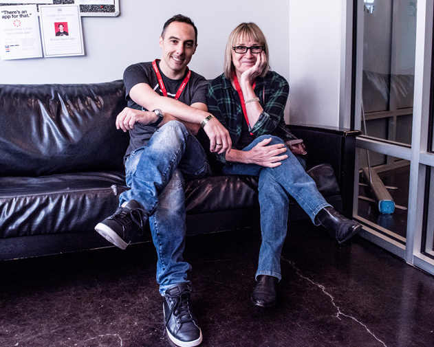 Founder Loic Maestracci and Nashville's first-ever female record producer Gail Davies. (Photo Credit: Nathan Cox)