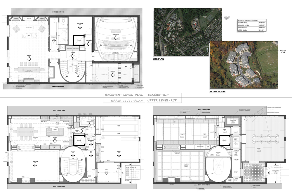 Location map and Furniture plans/RCP's