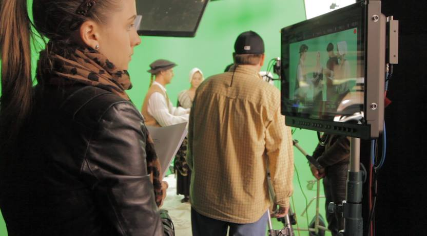 Directing on the set of Let The Lion Roar