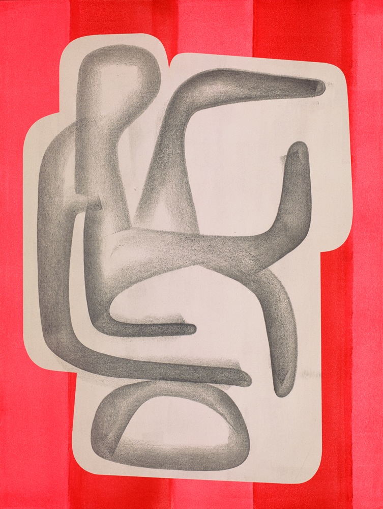 "FORM Arcosanti #3 - 24"" x 18"" - Graphite, Clear Gesso and Cel-Vinyl Acrylic on Watercolor Paper - $7500"