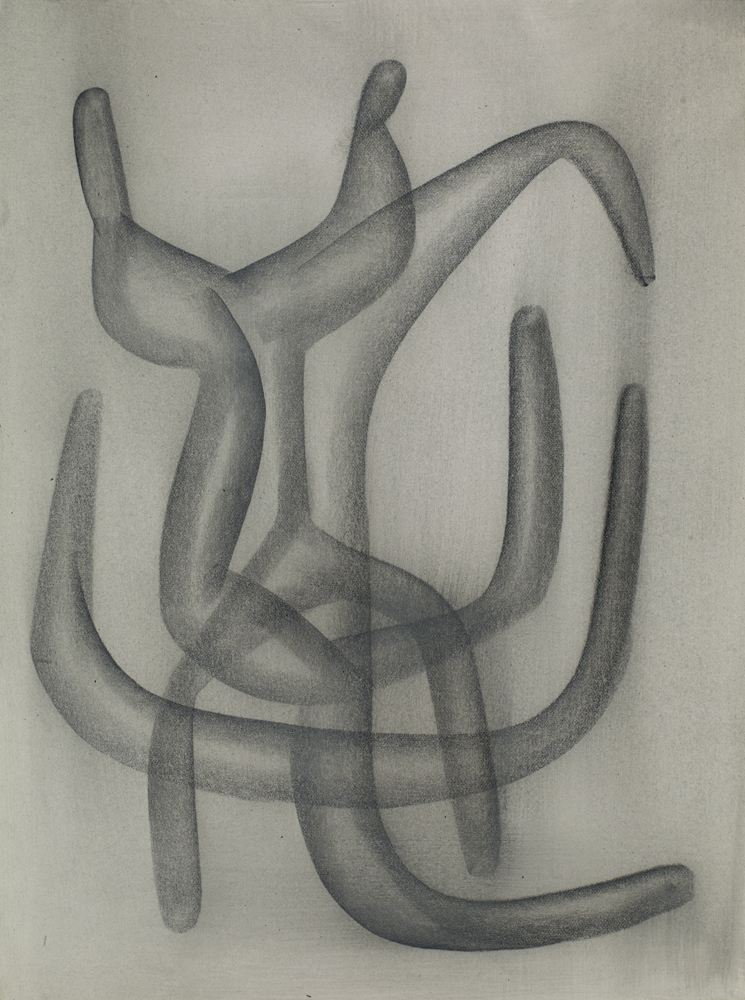 Free Meeting #7 31cm x 23cm Graphite & Clear Gesso on Watercolor Paper 16,000 DKK