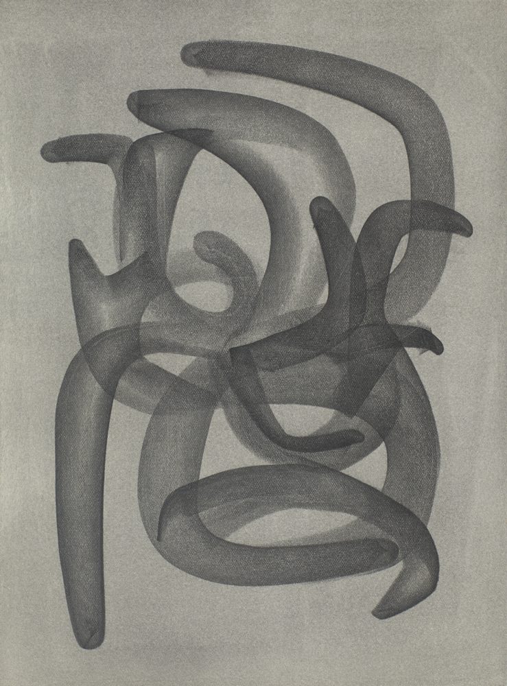 Free Meeting #8 31cm x 23cm Graphite & Clear Gesso on Watercolor Paper 16,000 DKK