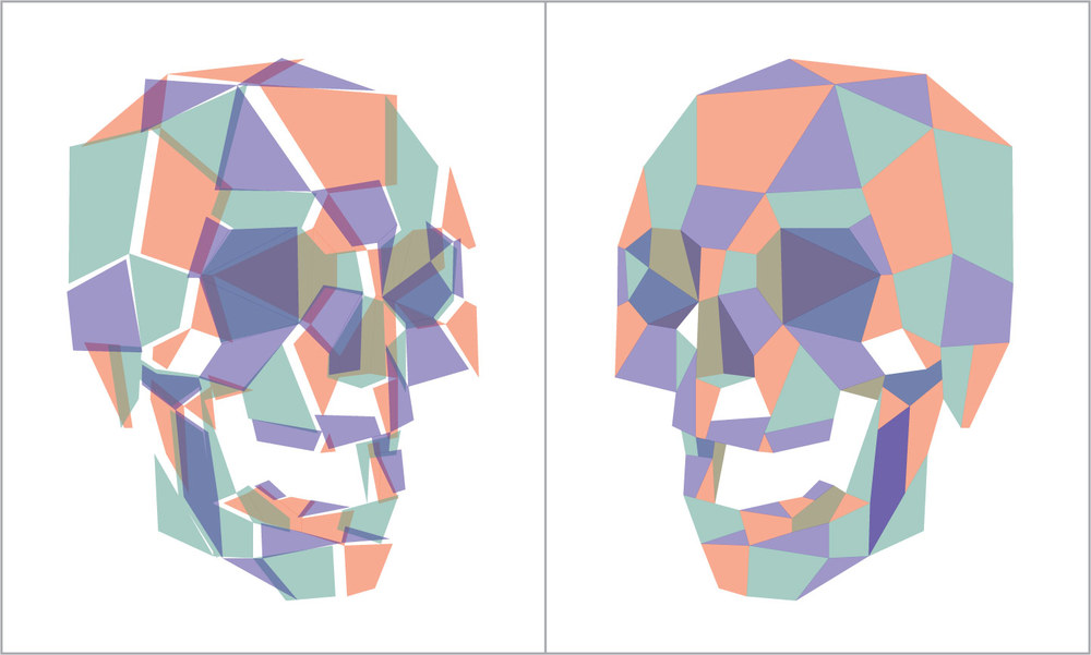 """Vibrator"" (set of two prints) 2010 3-Color Serigraph 12"" X 10"" each A/P 6/6 150 euros (for the set)"