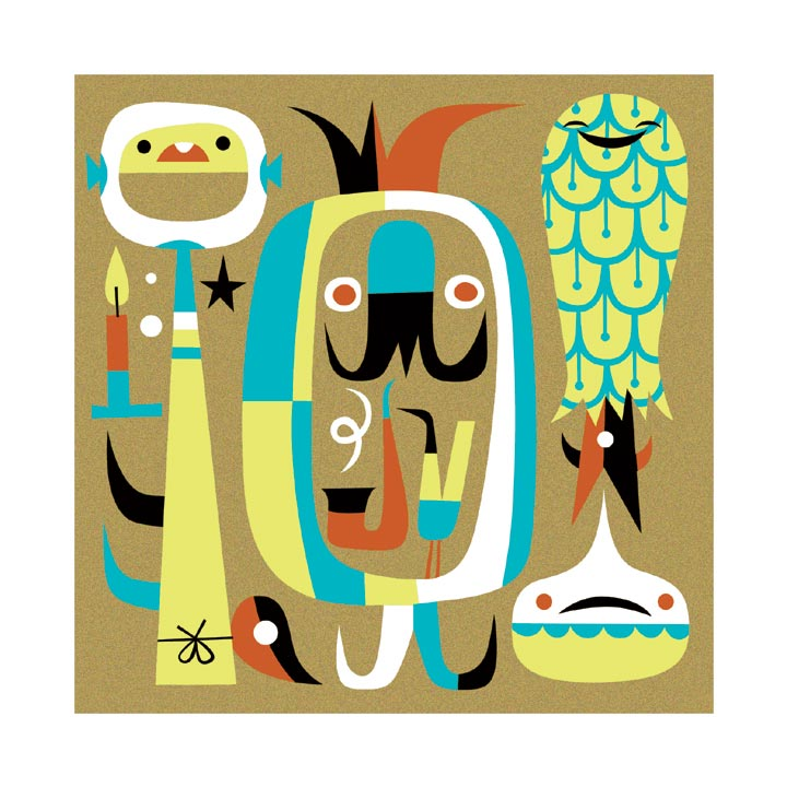 """Harem Candle"" 2004 5-Color Serigraph 10.5"" X 10.5"" #222/222 100 euros"