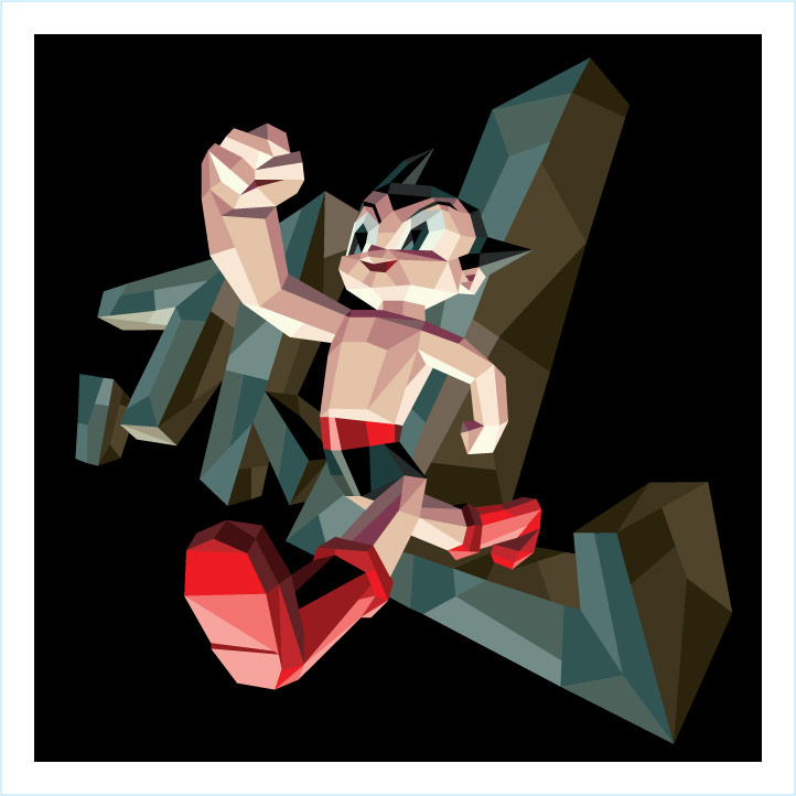 """Polygon Print: Astro Boy"" 2010 Digital Offset 12"" X 12"" #10/33 100 euros"