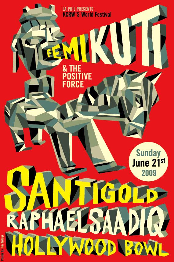 """""""Femi Kuti"""" 2009 Offset Print 25"""" X 19"""" A/P 12/20 100 euros"""