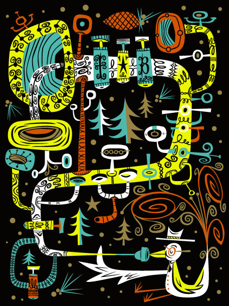"""Blow Bird Blow"" 2005 5-Color Serigraph 18"" X 14"" #119/150 100 euros"