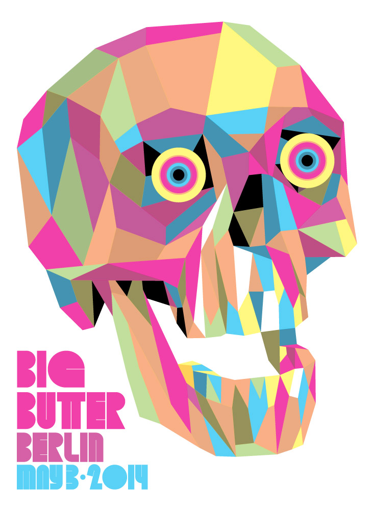 """Big Butter Berlin"" 2014 4-Color Serigraph 30"" X 22"" #37/80 100 euros"