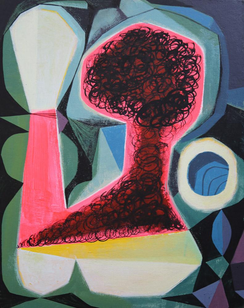 """Untitled (064A0063)"" Acrylic on Canvas 14"" x 11"" $1500"