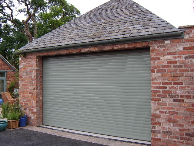 chartwell green garage door aluroll