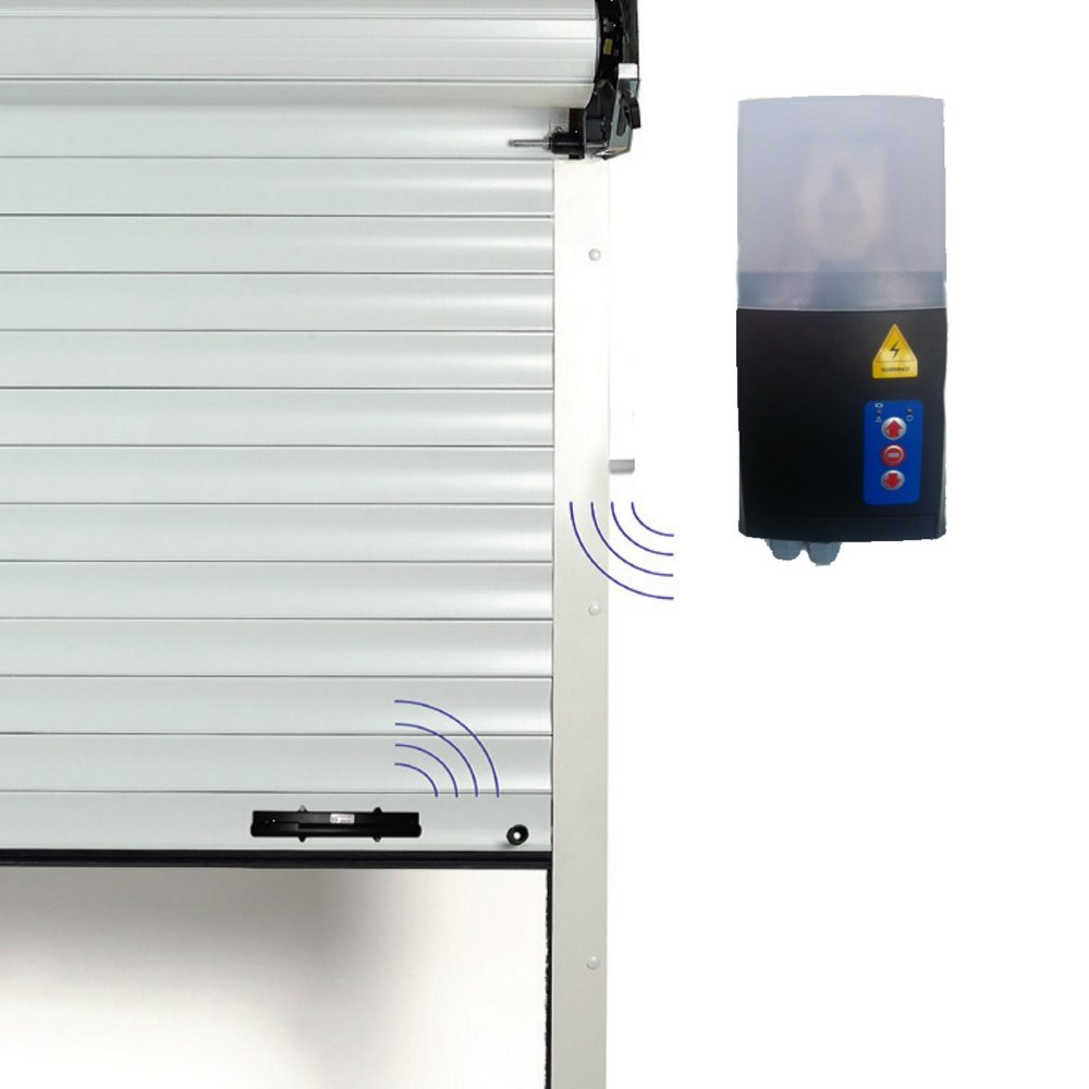 Control panel safety edge garage door