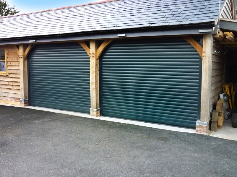 Fir Green Garage Door.jpg & SecureRoll Compact - 55mm Insulated Slat