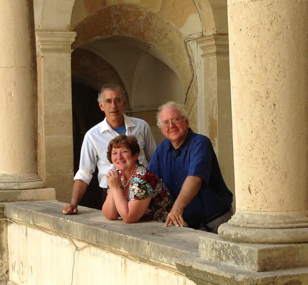 Douglas, Lucia, & Stephen in one of Siracusa's Baroque palaces