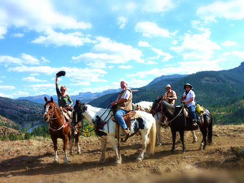 Touring with guests on horseback