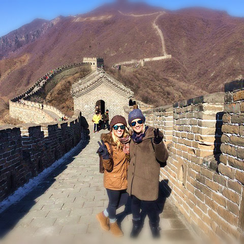 Shelby, ITMI Alumni 2013, on the Great Wall in China