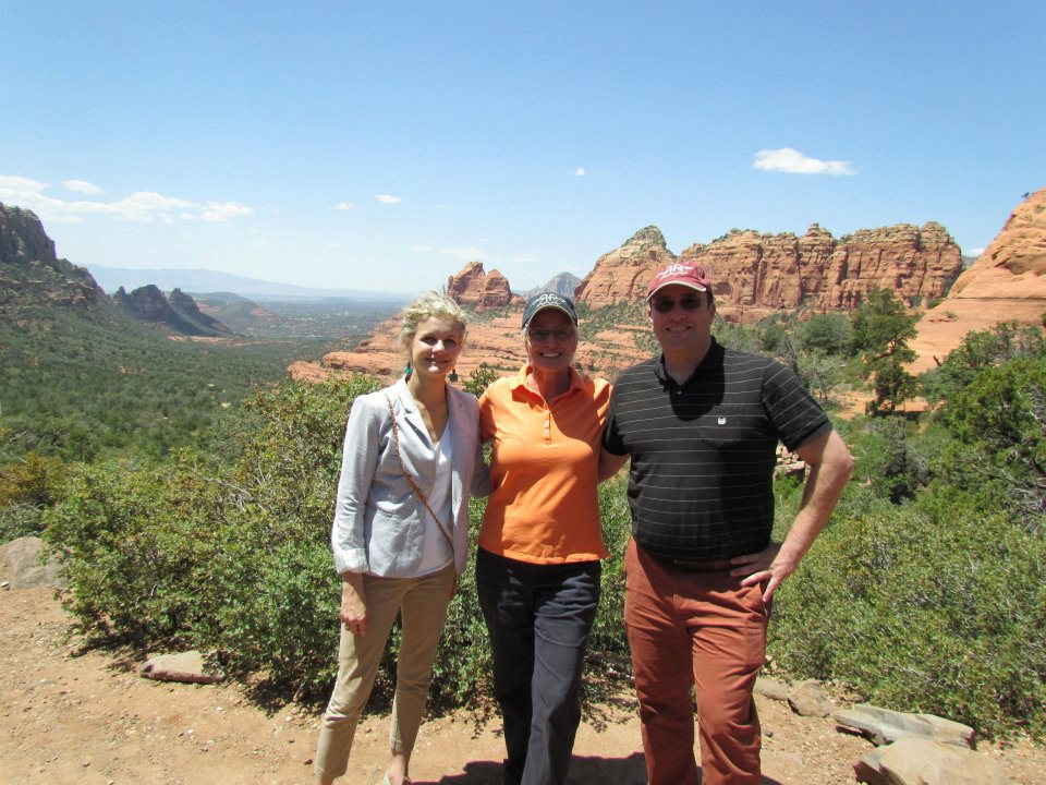ITMI Alumni Korie, Carol & George tour directing in Arches National Park